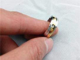 N3 vestuvinis titano ziedas,pildytas 24k auksu - nuotraukos Nr. 4