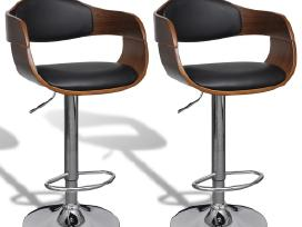 Vidaxl 2 Odinės Baro Kėdės 270549