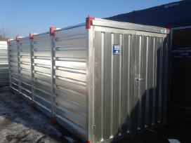 Metalinis-cinkuotas konteineris sandelis