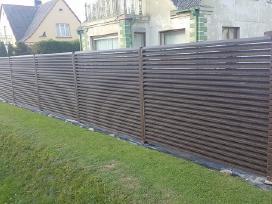 Žaliuzinės, segmentinės tvoros, tvoralentės