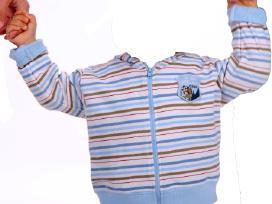 Melsvas dryžuotas džemperis 80cm