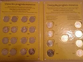 1 lito ir 2 litų proginių monetų rinkinys (pilnas)