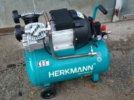 "Oro kompresorius ""Herkmann"" 50ltr 2 cilindrų"