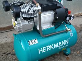 """Oro kompresorius """"Herkmann"""" 50ltr 2 cilindrų - nuotraukos Nr. 3"""