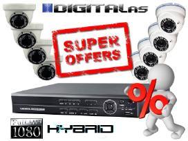 Vaizdo stebėjimo kameros pigiau. Full HD sistema