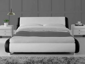 Nauja didelė odinė lova su nauju čiužiniu - nuotraukos Nr. 2