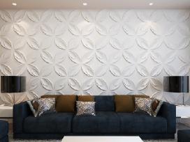 Vidaxl 3D Sienų Plokštės, Gėlės 240789