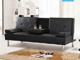 Nauja odinė sofa - lova su bariuku - nuotraukos Nr. 2