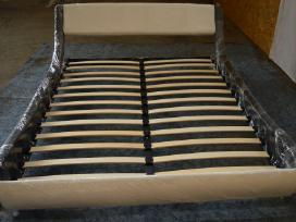 Nauja didelė odinė lova su nauju čiužiniu - nuotraukos Nr. 4