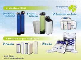 Vandens filtrai, geriamo vandnes sistema, druska