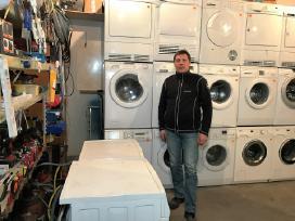 Naudotos skalbimo masinos is Vokietijos Norvegijos