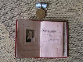 Medalis CCCP Su Dokumentu .zr. foto. - nuotraukos Nr. 4