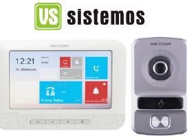 Hikvision ip telefonspynė su liečiamų 7 coliu LCD