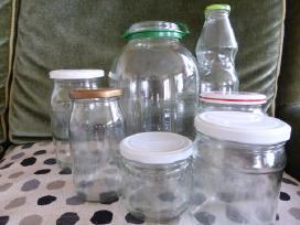 Stiklainiai 0,5 , O,8, 1 ir 3 ltr