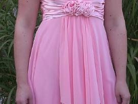 Parduodu persiko spalvos progine suknele