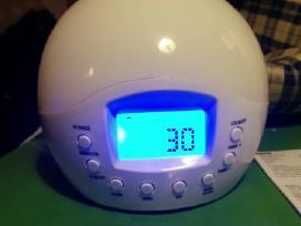 Radija su laikrodžiu ir lempa. - nuotraukos Nr. 4
