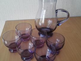 Ąsotis su 6 stiklinėmis