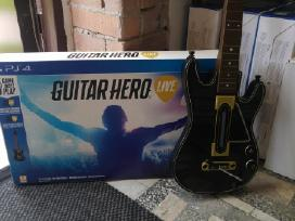 Ps4 Guitar Hero Žaidimas Su Gitara