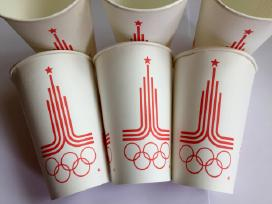 """Olimpiniai puodeliai """"Maskva 80"""""""
