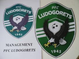 """Ludogorets"" futbolo klubo iš Bulgarijos emblema."
