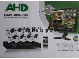 Ip Stebėjimo vaizdo kameros Ahd 5G 8vnt su įrašymu