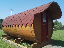 Pirtis backa, sauna, sodo namelis, barel, ovali