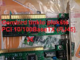 Gembird tinklo plokštė Pci 10/100basetx (Rj45)