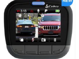 Reg. Cobra Cdr905bt Dual kamera. Naujas. 1080p