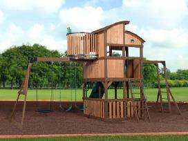 Lauko aikštelė supynes vaikams kedro mediena - nuotraukos Nr. 2