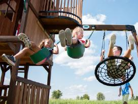 Lauko aikštelė supynes vaikams kedro mediena - nuotraukos Nr. 3