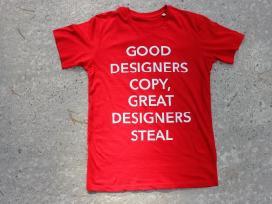 Nauji raudoni marškinėliai m/l