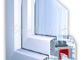 Plastikiniai bei aliuminio langai, durys,pertvaros