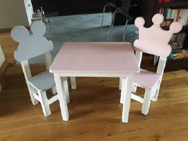 Vaikiškos kėdutės su staliuku