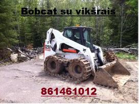 Bobcat S250 Nuoma nuo 23€/val,polių grežimas - nuotraukos Nr. 4