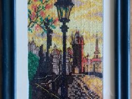 """Siuvinėtas paveikslėlis """"Karolio tiltas Prahoje"""""""