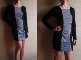 Pilka/juoda suknelė