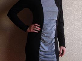 Pilka/juoda suknelė - nuotraukos Nr. 3