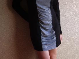 Pilka/juoda suknelė - nuotraukos Nr. 4