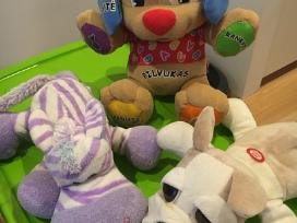 Fisher price žaislai, pliušiniai žaislai