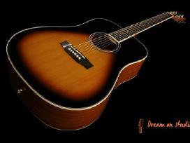 Naujos akustinės, el. akustinės gitaros ir dėklai