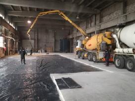 Pramoniniu grindu betonavimas ir smėlbetonis