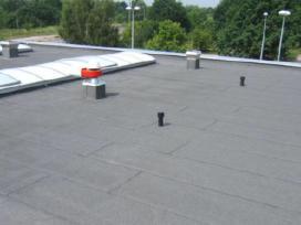 Plokščių stogų dengimas ir su prilydoma danga,skar