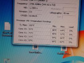 Naudotas procesorius E5462