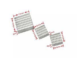 Aliuminio radiatorių Raspberry/orange Pi komplektą