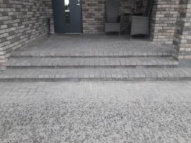 Pramoniniu grindų betonavimas trinkelių klojimas - nuotraukos Nr. 4