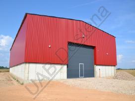Karkasiniai metaliniai angarai, fermos, garažai