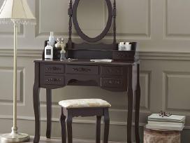 Kosmetinis staliukas su veidrodžiu ir kėdute - nuotraukos Nr. 2