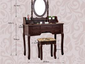 Kosmetinis staliukas su veidrodžiu ir kėdute - nuotraukos Nr. 3