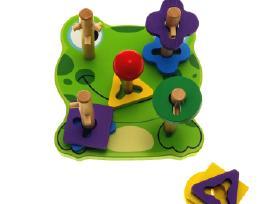 Mediniai / lavinamieji žaislai vaikų lavinimui
