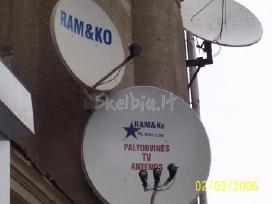 Antenos vietinė ir palydovinė TV,